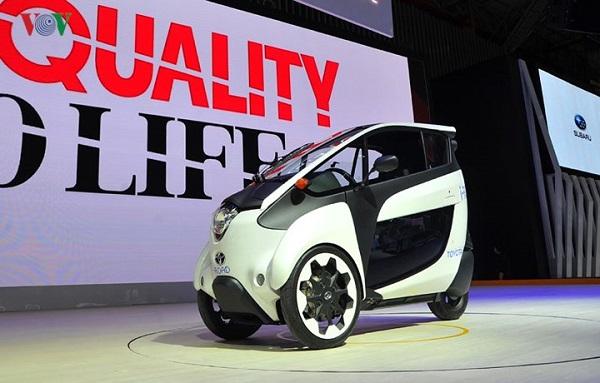 Xe ba bánh chạy điện Toyota i-Road gây ấn tượng tại Triển lãm Ô tô Việt Nam 2018