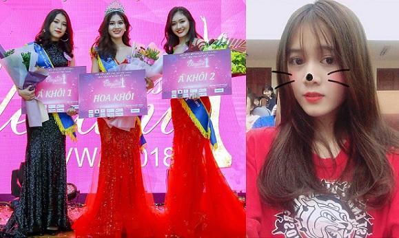 """Chiêm ngưỡng nhan sắc """"vạn người mê"""" của tân Hoa khôi Học viện Phụ nữ Việt Nam 2018"""