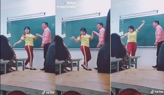 """Màn khiêu vũ ngay trên bục giảng của thầy trò trường Hoa Sen khiến cả lớp cười lăn lộn, cư dân mạng đua nhau """"thả tim"""""""