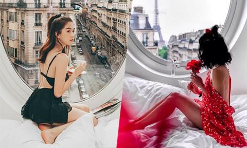 """""""Sốt xình xịch"""" tìm ra tọa độ khách sạn view tháp Eiffel cực đẹp mà Ngọc Trinh """"điên cuồng"""" check-in"""