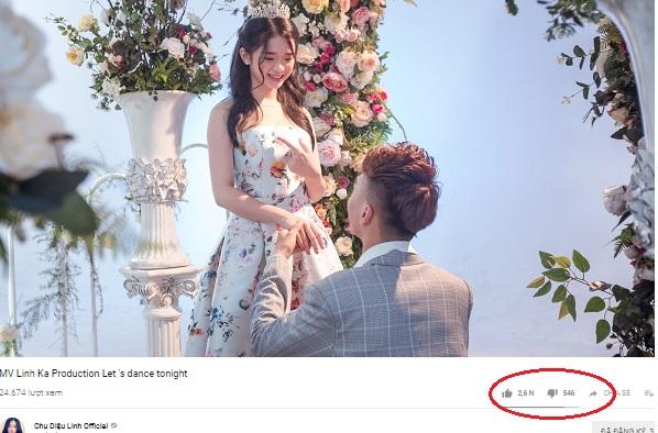 Bạn có tin được không, đây chính là lượng dislike mà cư dân mạng dành cho MV khủng của Linh Ka sau một ngày ra mắt