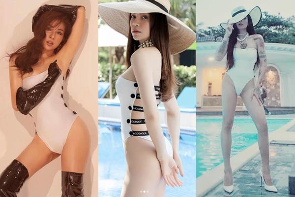 """Cover """"EMADEV"""" của Hồ Ngọc Hà quá kỹ, BB Trần chấp nhận chịu đau với kiểu bikini lọt khe thế này"""