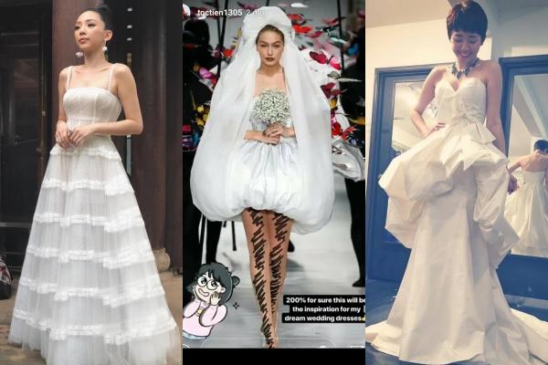 """Nếu ngày mai là """"cô dâu mới"""", chiếc váy cưới mà Tóc Tiên chọn để sánh bước bên Hoàng Touliver chắc chắn sẽ là thứ cá tính nhất Vbiz"""