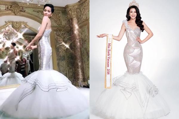 """Trình làng bộ trang phục dạ hội """"như mơ"""" diện tại Miss Universe, H-Hen Nie bỗng bị ném đá """"sấp mặt"""" vì lý do này"""