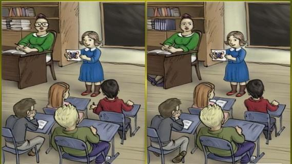 Bạn tìm ra bao nhiêu điểm khác biệt giữa 2 bức tranh? Từ đó đoán biết sở trường của bạn là gì