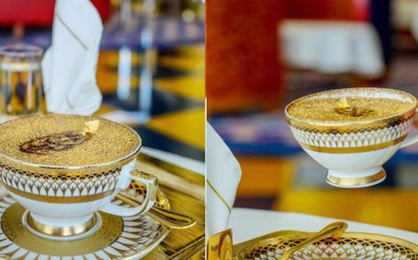 Cận cảnh ly cà phê phủ vàng tại khách sạn xa xỉ bậc nhất thế giới ở Dubai
