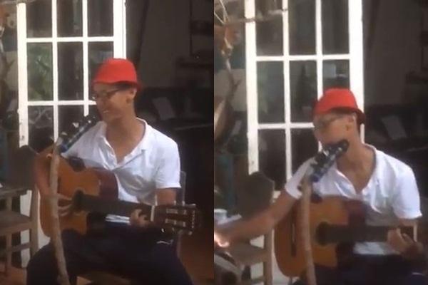 """Lộ clip Rocker Nguyễn đen nhẻm, gầy gò ngồi ôm đàn hát ở Côn Đảo trước khi bị """"ngáo ngơ"""""""