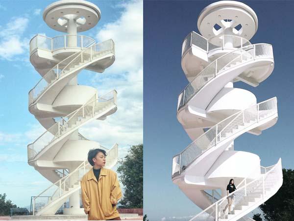 """Giới """"sống ảo"""" đang thất điên bát đảo với """"cầu thang xoắn trắng"""" đẹp như nấc thang lên thiên đường ở Nha Trang"""