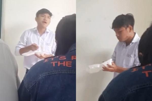 Bắt được học sinh ăn vụng trong giờ học, thầy giáo lớp người ta trừng phạt thế này đây