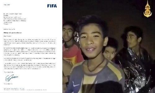 Chủ tịch FIFA mời đội bóng Thái mắc kẹt trong hang động đến xem trận Chung kết World Cup 2018