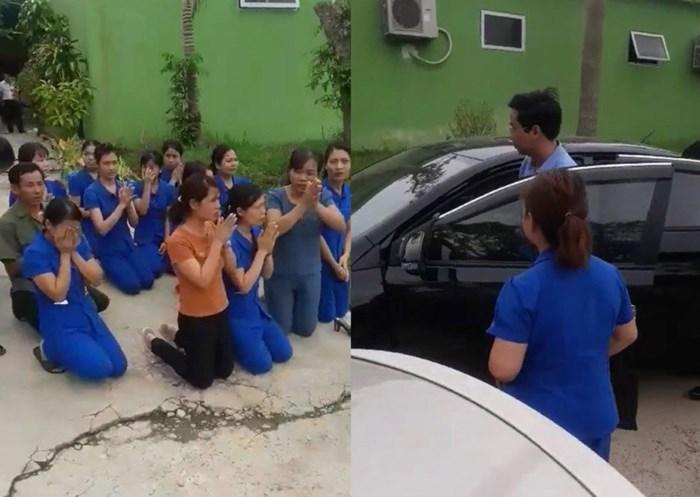 Xúc động cảnh giáo viên quỳ gối khóc lóc, van xin hủy quyết định giải tán cơ sở mầm non