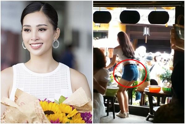 """Vừa về quê, Hoa hậu Tiểu Vy diện đồ bó sát gợi cảm, dáng nuột nà nhưng vòng 3 bị chê """"lép kẹp"""""""