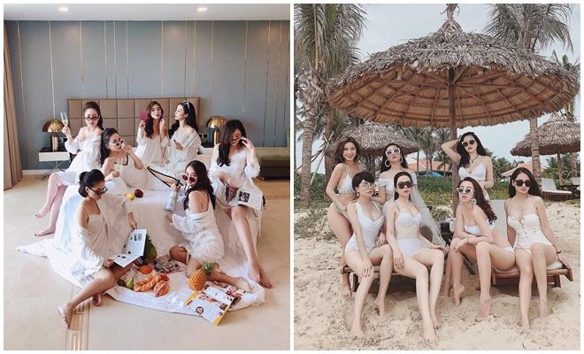 Hội mẹ bỉm sữa thân nhau đã nhiều năm này luôn thu hút sự chú ý lớn mỗi khi xuất hiện, quy tụ những cựu hot girl như Miss Audition Ngọc Anh, Ngọc Mon, Thanh Hà, Jang Hy...