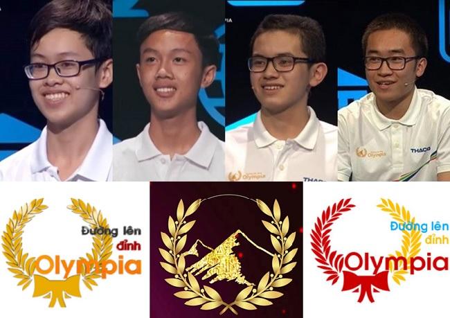 Lộ diện 4 gương mặt tài năng trẻ bước vào chung kết Đường lên đỉnh Olympia 2018