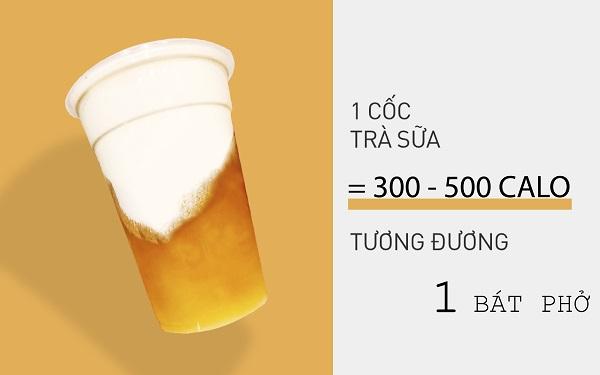Không ngờ 1 cốc trà sữa chứa lượng calo tương đương một tô phở