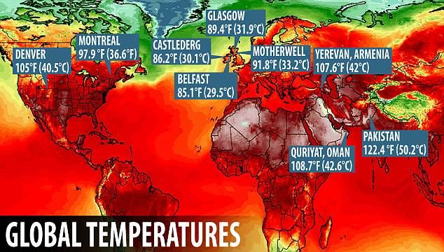 Không chỉ Hà Nội, cả thế giới đang phải đối mặt với nắng nóng như thiêu đốt suốt tuần qua