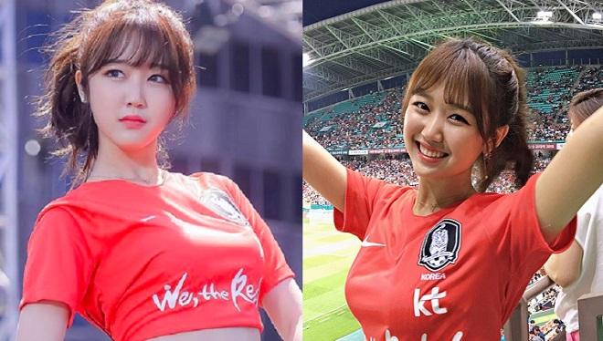 """Ngay trước khi đội nhà ra quân ở World Cup, fangirl Hàn Quốc xinh đẹp """"chiếm sóng"""" trang mạng"""