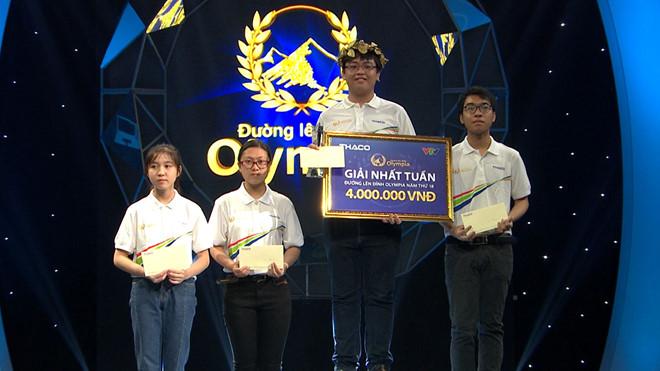 Nam sinh Nam Định san bằng kỷ lục điểm số của Đường lên đỉnh Olympia, giành vòng nguyệt quế quý IV