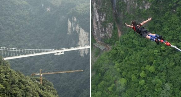 Nhảy bungee từ cầu thủy tinh cao nhất thế giới sắp trở thành trào lưu mới của giới trẻ ưa thể thao mạo hiểm