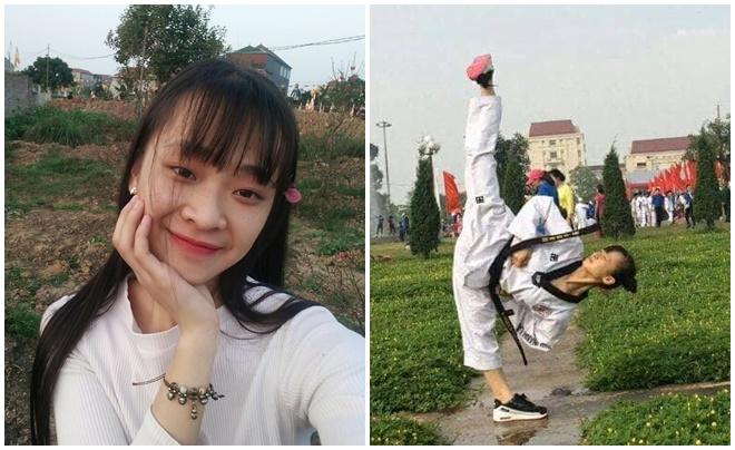 Cô gái 1m53 là cao thủ của 2 môn võ Teakwondo và Karatedo, 20 tuổi đã đạt Tam đẳng huyền đai