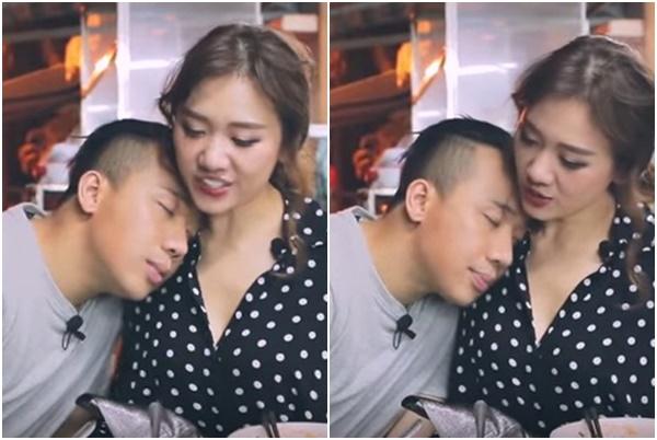 Đưa vợ vào quán hủ tiếu, Trấn Thành cứ ngả ngớn dụi đầu vào ngực, Hari Won xấu hổ phải hét lên