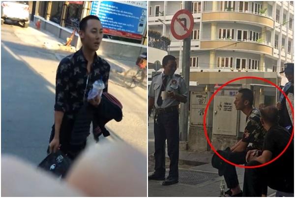 """Lộ clip Rocker Nguyễn đen nhẻm, mặt ngáo ngáo, nói lảm nhảm giữa đường như bị """"trúng tà"""""""