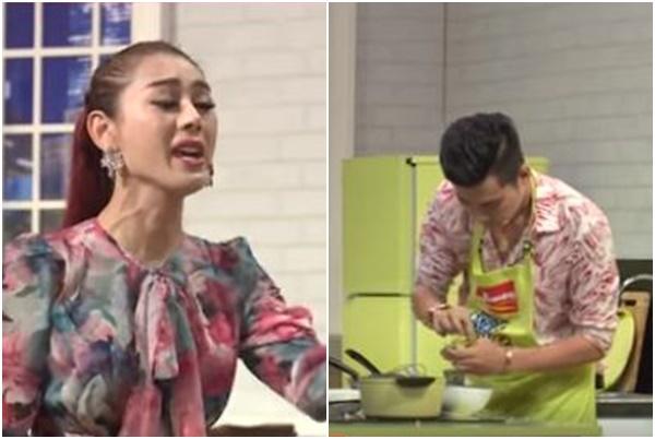 Dạy chồng nấu ăn, Lâm Khánh Chi đành hanh quát như chém chả, Hari Won đứng cạnh mà xanh mặt