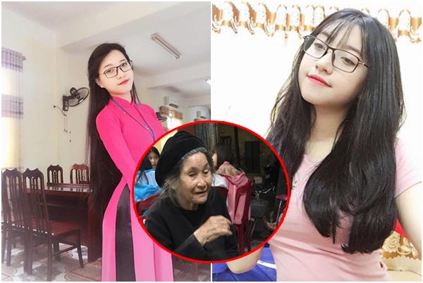 Ngỡ ngàng trước nhan sắc của cô gái Nghệ An trả 20 bữa cơm cho bà cụ ăn xin