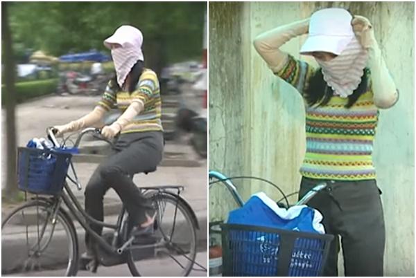 """Học chị Nguyệt """"kỹ năng chống nắng"""" phiên bản Ninja mũ rộng vành, đảm bảo """"cua"""" được trai cả thiên hạ!"""