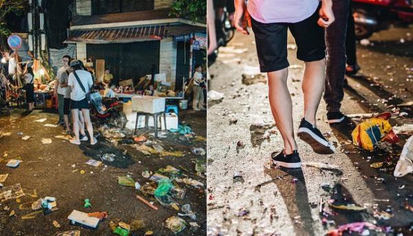 """Sau đêm Rằm tháng Tám, chợ Trung thu truyền thống số 1 Hà Nội trở thành """"chợ rác"""""""