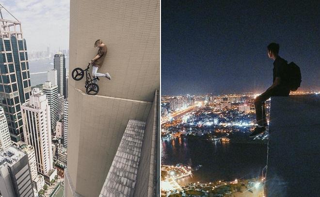 """Trào lưu mạo hiểm selfie, quay clip trên nóc nhà chọc trời """"Rooftopping"""" đã xuất hiện tại Việt Nam"""