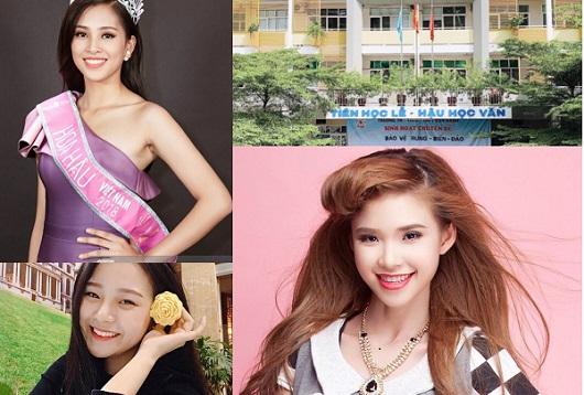"""Hóa ra trường cấp 3 của Hoa hậu Tiểu Vy có những cựu học sinh """"chất"""" như Khởi My, Á hậu Diệu Thùy..."""