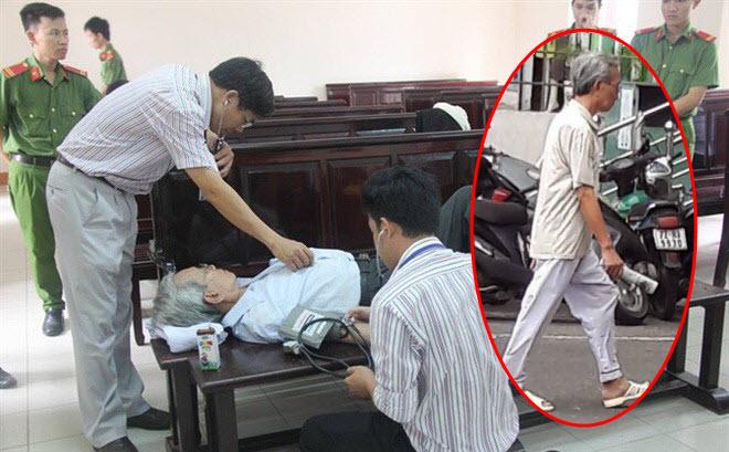 Viện cớ sức khỏe yếu, Nguyễn Khắc Thủy định xin hoãn thi hành án nhưng bị người dân phát giác
