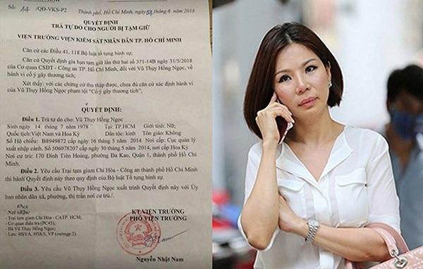 Vợ cũ của bác sĩ Chiêm Quốc Thái bất ngờ được trả tự do dù liên quan vụ án truy sát chồng