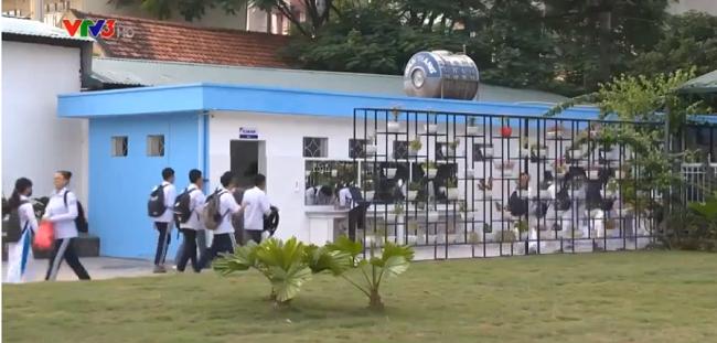 Đến một nhà vệ sinh trường học ở Quảng Ninh mà ngỡ như lạc vào khách sạn 5 sao