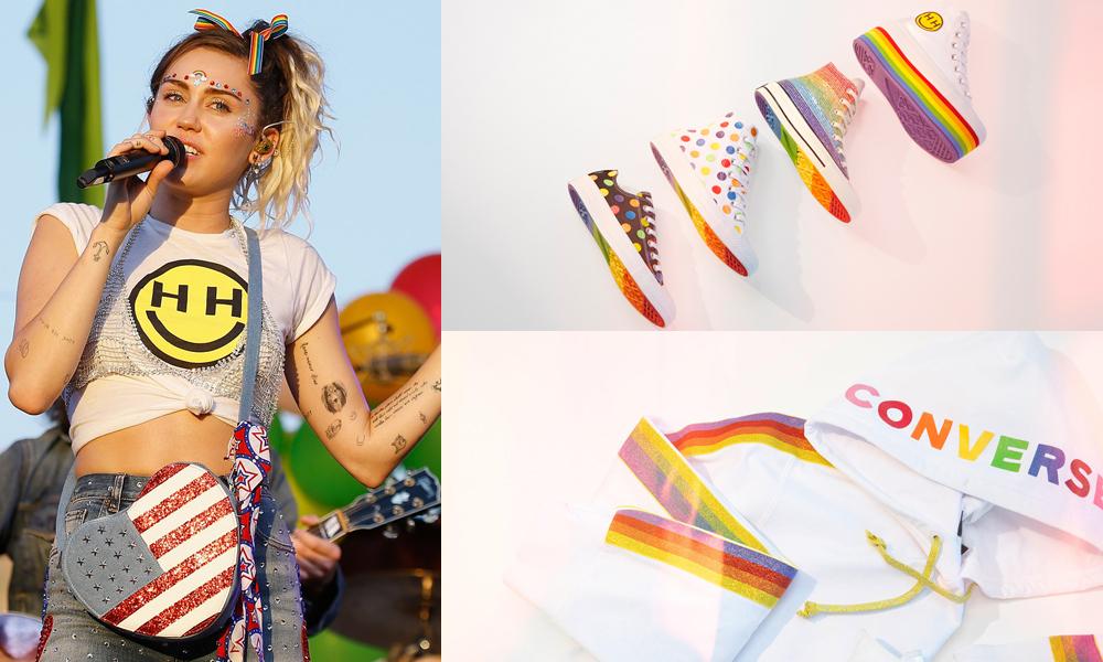 """""""Công chúa Disney"""" Miley Cyrus chính thức kết hợp với Converse cho ra BST """"niềm tự hào"""" mang bản sắc LGBT"""
