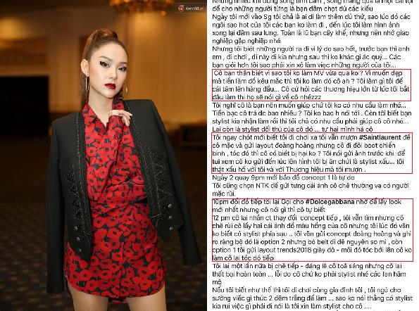 """Minh Hằng bị stylist tố tự ý thay đổi trang phục, chỉ là phương án """"thế chân"""" cho Hồ Ngọc Hà"""