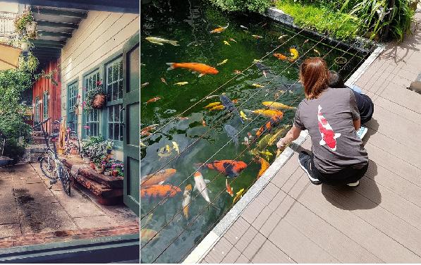 Không có người yêu cũng đừng đi Đà Lạt một mình, không ai là người chụp shoots hình siêu ảo tại homestay cá Koi cho bạn đây?