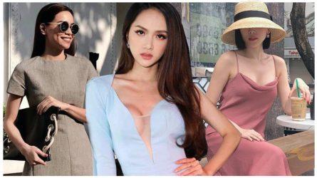 Cùng diện đầm lụa: Hà Hồ, Hà Tăng thanh lịch, Tóc Tiên dịu dàng hơn hẳn ngày thường với gam hồng trang nhã