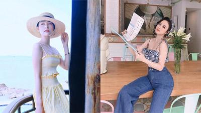 """Sao Việt """"giải nóng"""" mùa hè: người croptop khoe eo thon, kẻ diện áo xẻ ngực khoe vòng một sâu hun hút"""
