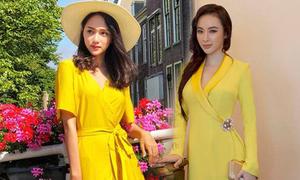 """Loạt mỹ nhân Việt chăm chỉ lăng xê trang phục """"vàng mọi cấp độ"""" thời gian gần đây, hè đã nóng nay càng thêm """"chói chang"""""""