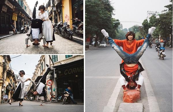 """Chuyện tình """"chị ơi, anh yêu em"""" của cặp đôi vũ công nhảy khắp Hà Nội chụp ảnh cưới"""