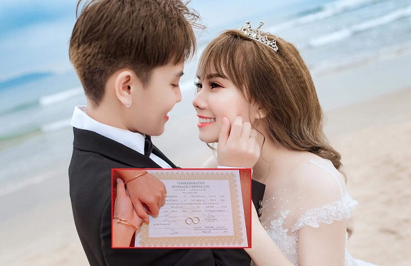 Cặp hotface đình đám Di Bảo-Múi Xù chính thức trở thành vợ chồng khi đăng ký kết hôn hợp pháp tại Mỹ