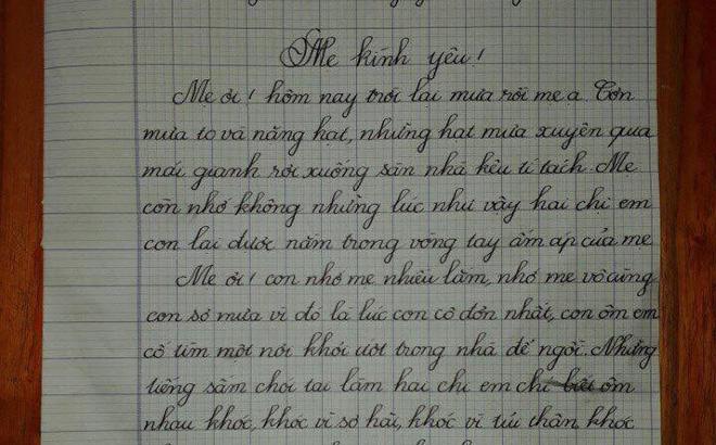 """Nghẹn ngào bức thư của bé gái 5 tuổi gửi mẹ: """"Nơi xa ấy mẹ hãy phù hộ cho chúng con mẹ nhé!"""""""
