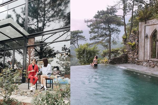 """""""Thất điên bát đảo"""" trước khu nghỉ dưỡng ẩn mình giữa Ba Vì với nhà gỗ châu Âu, bể bơi view núi"""