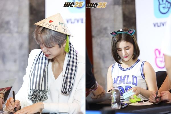 HOT: Nhan sắc đẹp như tranh vẽ của Momoland và Monsta X trong buổi ký tặng fans Việt