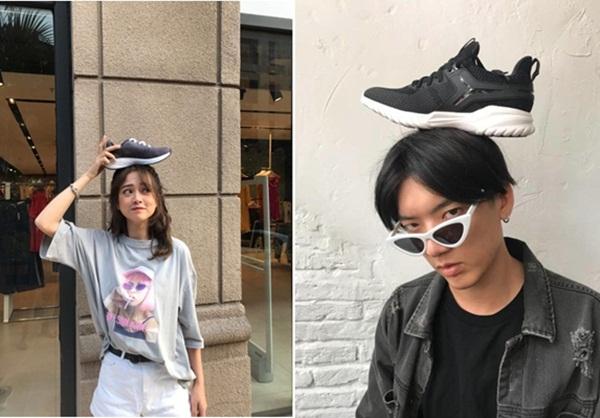 """Hot trend """"đội giày"""