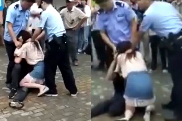 """Tội cho chàng trai bị bạn gái """"cuồng hôn"""" đến mức chảy máu lưỡi, cảnh sát phải xịt hơi cay vào mặt mới chịu nhả"""