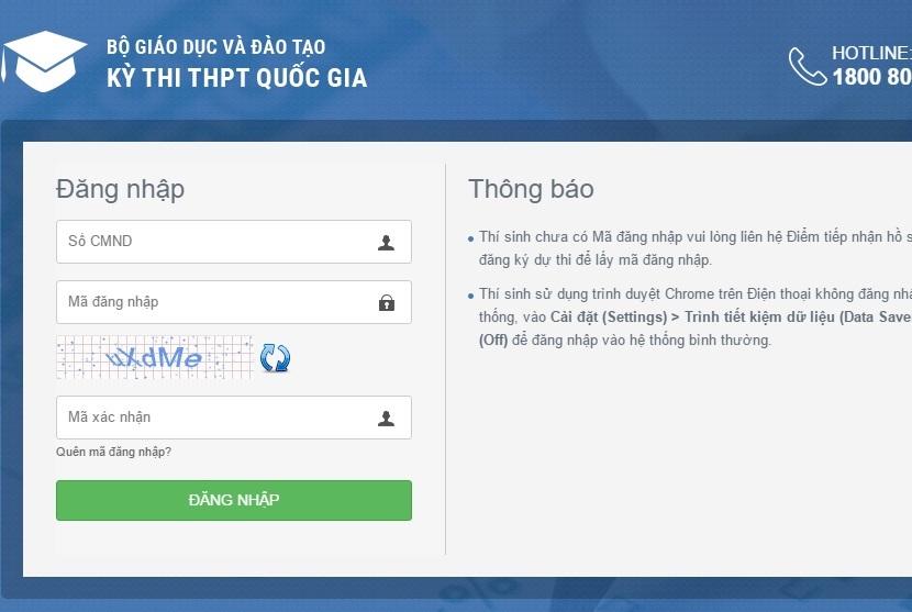 Hướng dẫn cách tra cứu giấy báo dự thi THPT Quốc gia 2018 online nhanh nhất, chính xác nhất