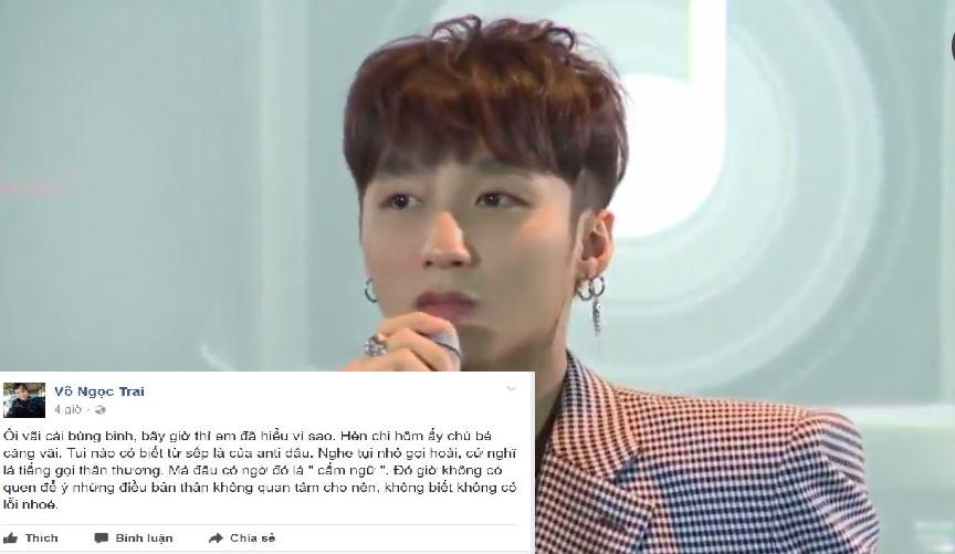 """Lỡ lời gọi Sơn Tùng là """"sếp"""", VJ Ngọc Trai bị """"sửa lưng"""" ngay trên sân khấu"""